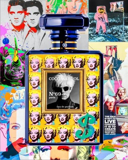 Coco Warhol by Diederik Van Apple - Mixed Media on Aluminium